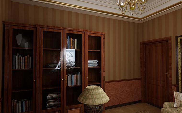 Фото № 9973 кабинет библиотека  Загородный дом