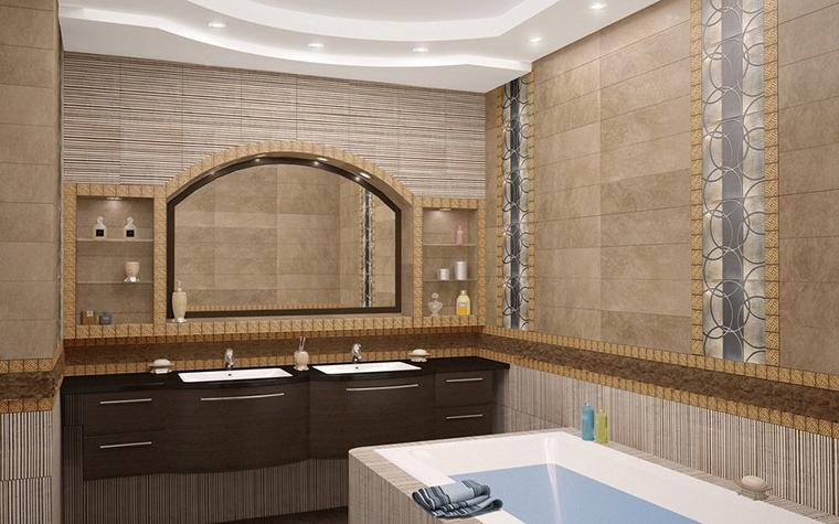 Загородный дом. ванная из проекта , фото №10386