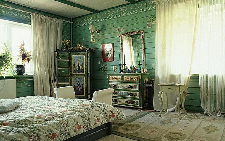 Загородный дом. спальня из проекта , фото №10436