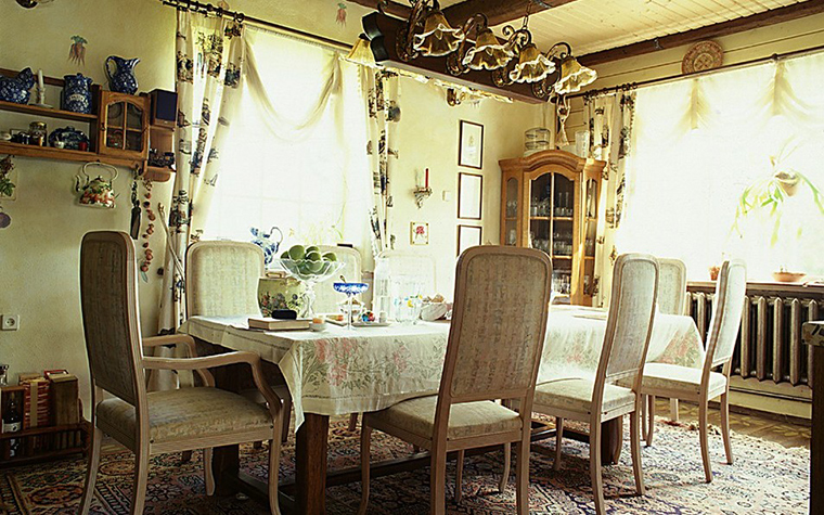Загородный дом. столовая из проекта , фото №10445