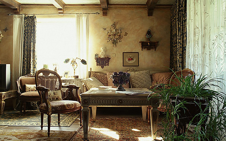 Загородный дом. гостиная из проекта , фото №10444