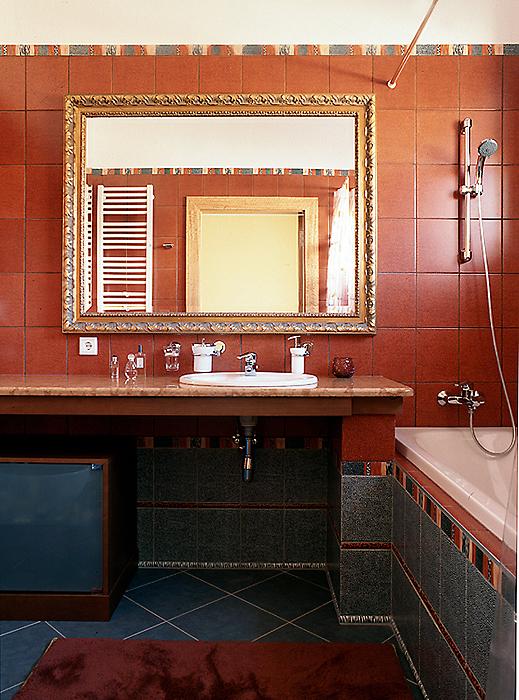 Загородный дом. ванная из проекта , фото №10332