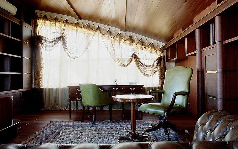 Загородный дом. кабинет из проекта , фото №10333