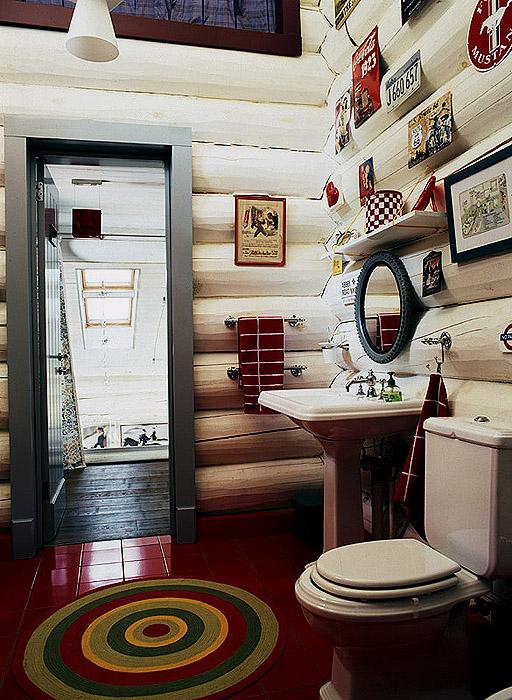 Загородный дом. ванная из проекта , фото №9530
