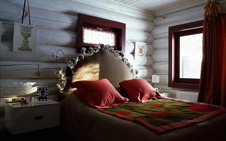 Загородный дом. спальня из проекта , фото №9528
