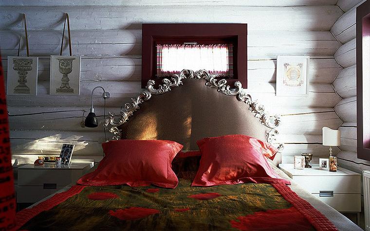 Фото № 9529 спальня  Загородный дом