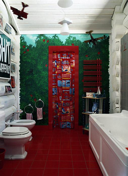 Загородный дом. ванная из проекта , фото №9532