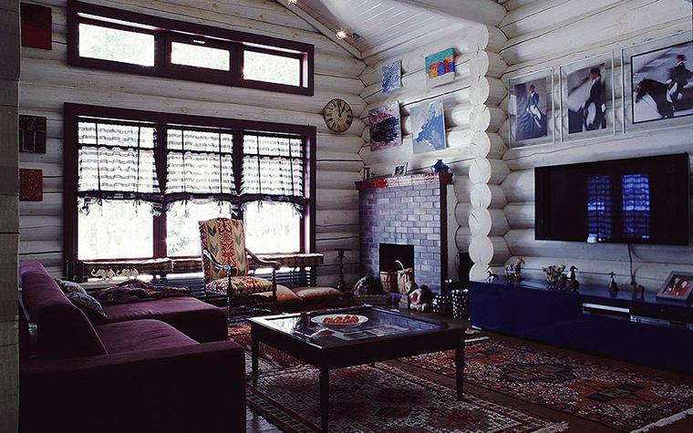 Фото № 9526 гостиная  Загородный дом