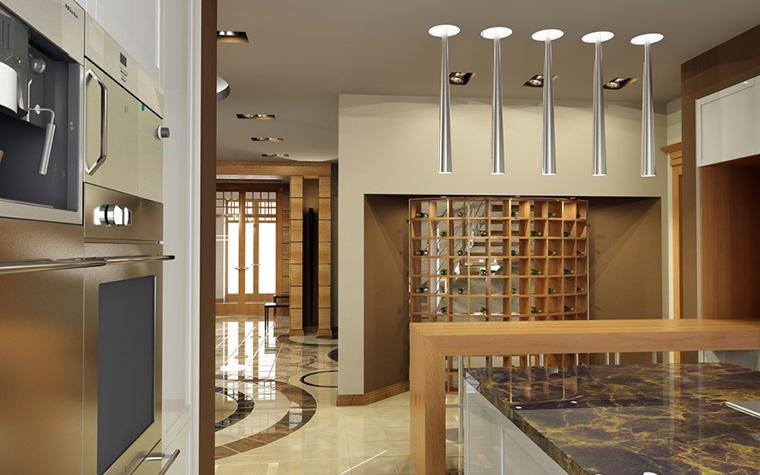 Загородный дом. кухня из проекта , фото №909