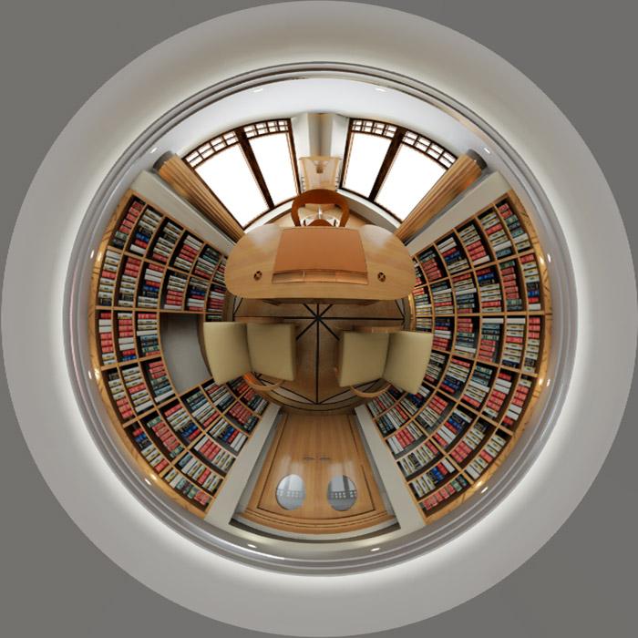 Фото № 6135 кабинет библиотека  Загородный дом
