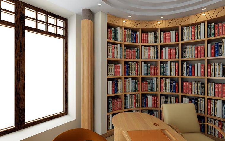 Фото № 798 кабинет библиотека  Загородный дом