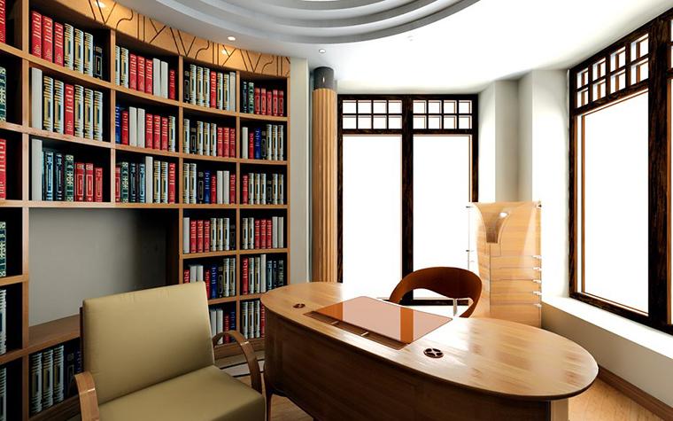 Фото № 799 кабинет библиотека  Загородный дом