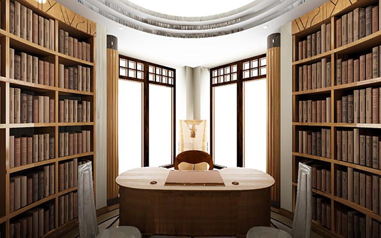 Фото № 800 кабинет библиотека  Загородный дом