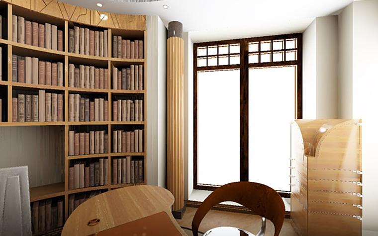 Загородный дом. кабинет из проекта , фото №801