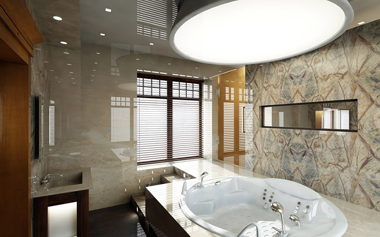 Загородный дом. ванная из проекта , фото №1445
