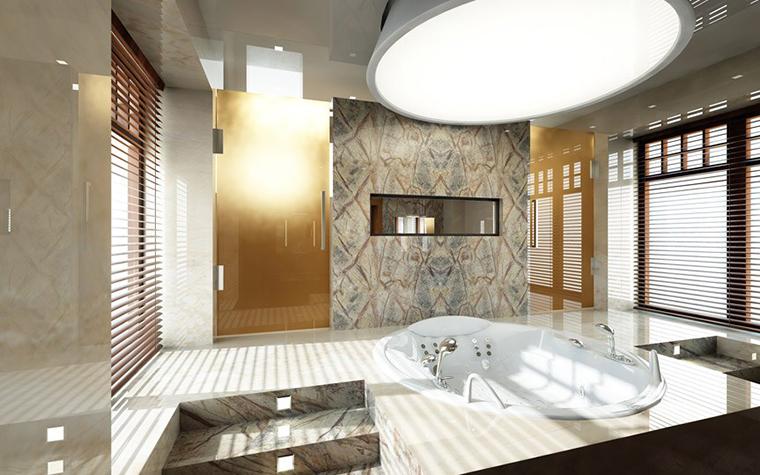 Загородный дом. ванная из проекта , фото №1447