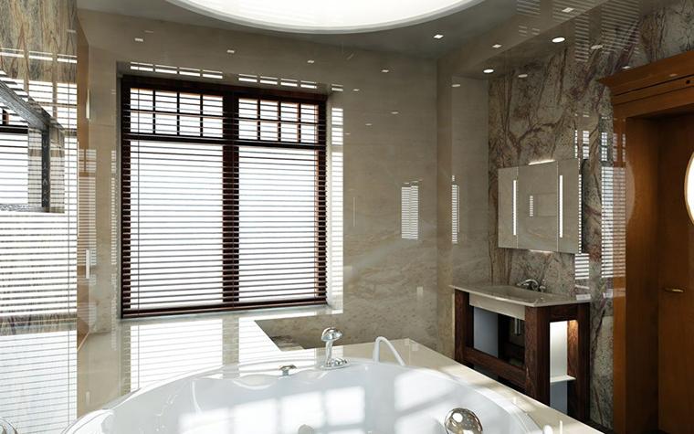 Загородный дом. ванная из проекта , фото №1448