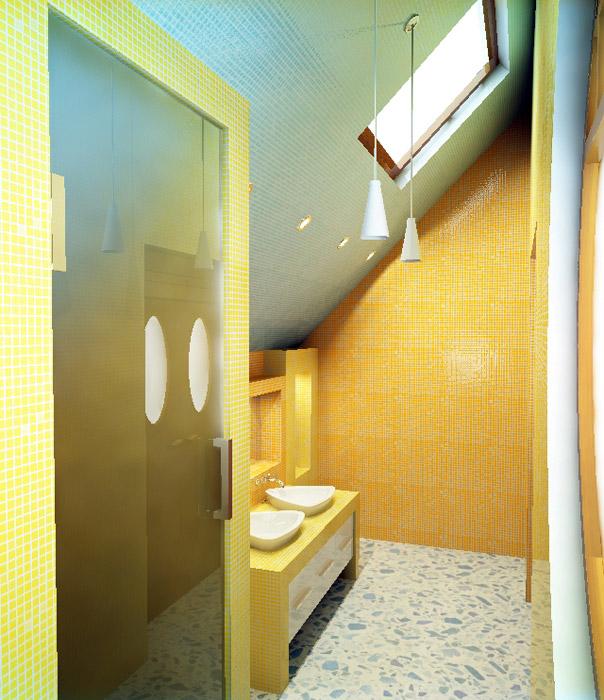 Загородный дом. ванная из проекта , фото №1454