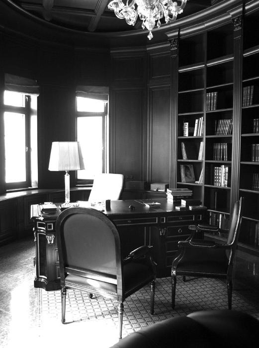 Фото № 993 кабинет библиотека  Загородный дом