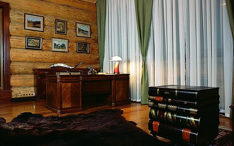 Загородный дом. кабинет из проекта , фото №1782