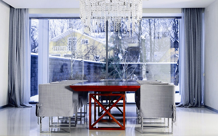 Загородный дом. столовая из проекта , фото №1839