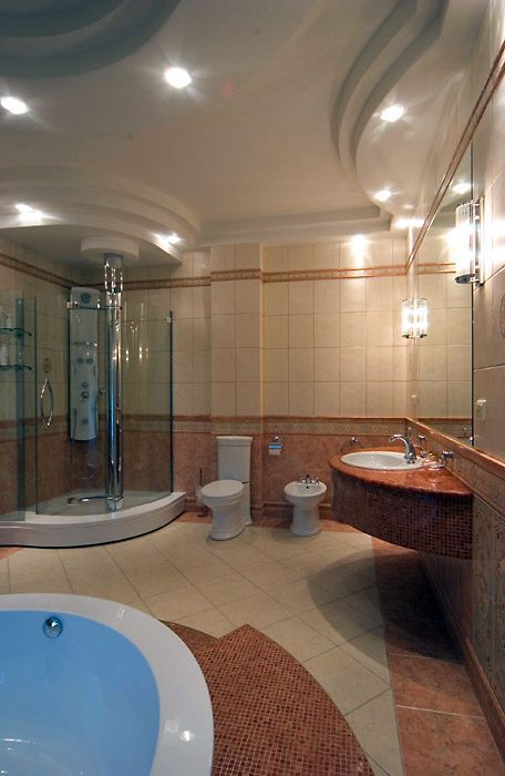 Загородный дом. ванная из проекта , фото №1881