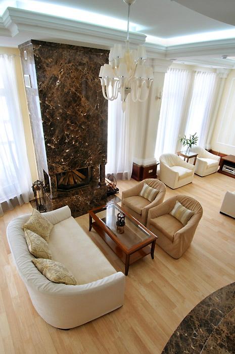 Загородный дом. гостиная из проекта , фото №1934