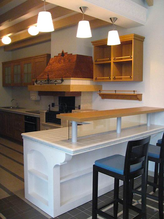 Загородный дом. кухня из проекта , фото №3912