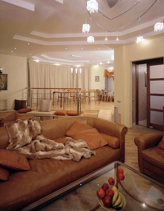Загородный дом. гостиная из проекта , фото №2531