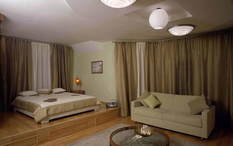 Загородный дом. спальня из проекта , фото №2534