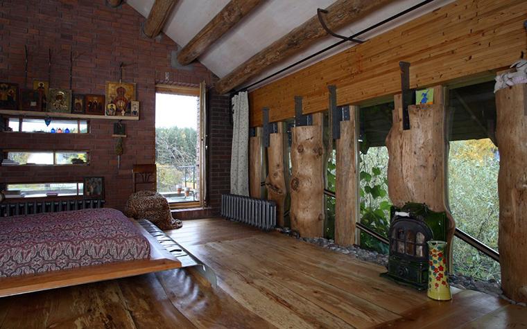 Фото № 2848 спальня  Загородный дом