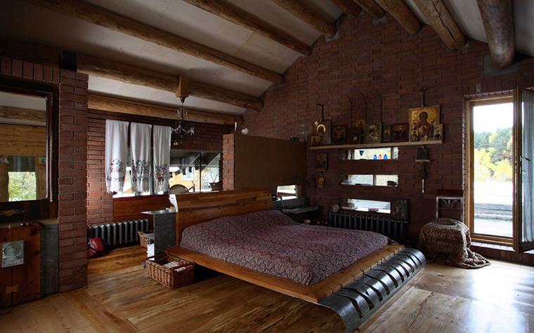 Фото № 2850 спальня  Загородный дом