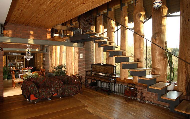 Фото № 2869 гостиная  Загородный дом