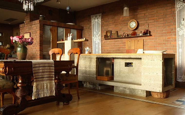 Фото № 2863 кухня  Загородный дом