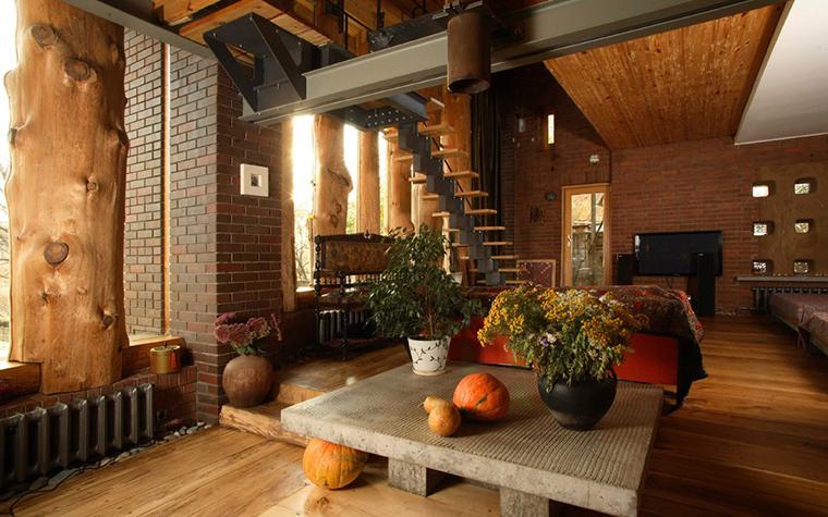 Фото № 2873 гостиная  Загородный дом