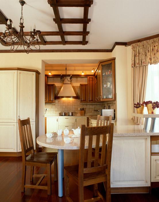 Фото № 3955 кухня  Загородный дом