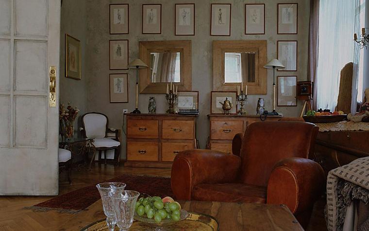 Загородный дом. гостиная из проекта , фото №8490