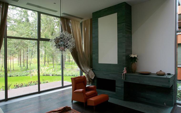 Загородный дом. гостиная из проекта , фото №5360