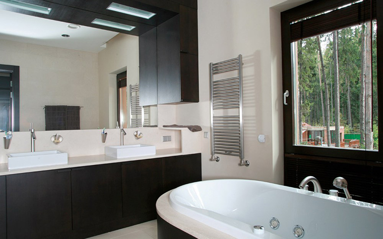 Загородный дом. ванная из проекта , фото №5371