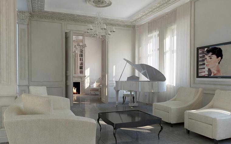 интерьер гостиной - фото № 5390