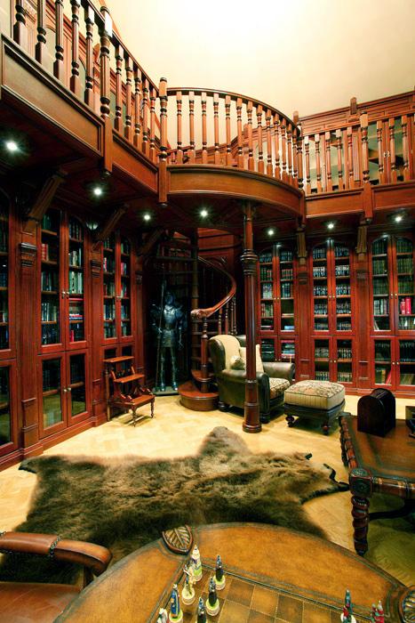 Загородный дом. библиотека из проекта , фото №4791