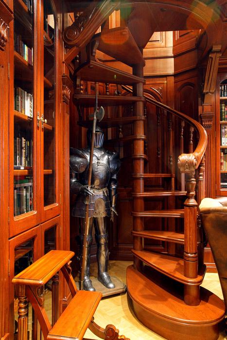 Загородный дом. библиотека из проекта , фото №4792