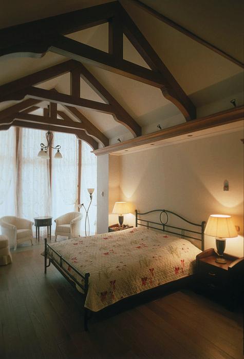 Фото № 3435 спальня  Загородный дом