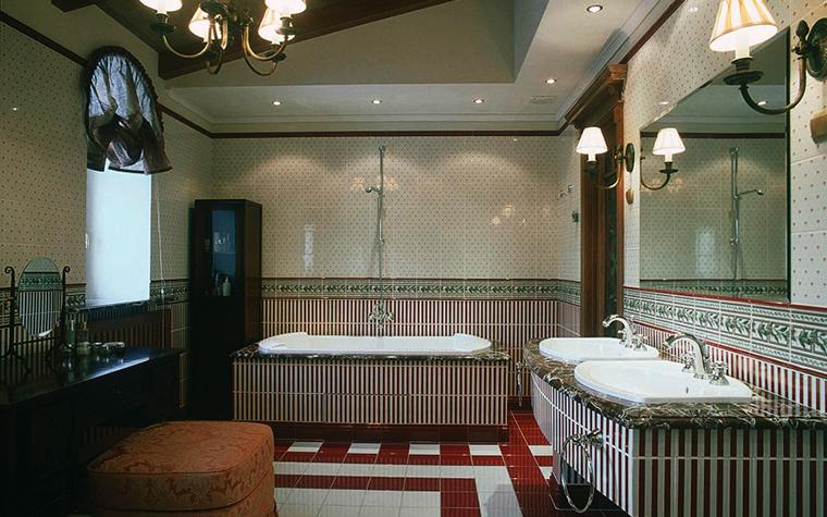 Загородный дом. ванная из проекта , фото №3436