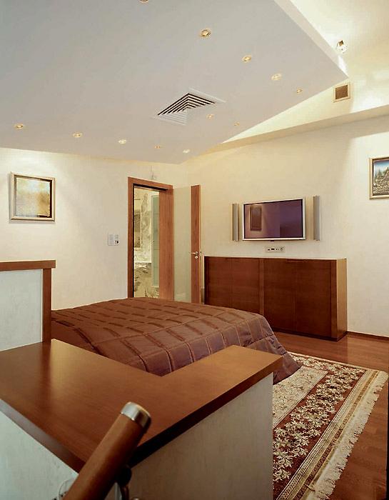 Загородный дом. спальня из проекта , фото №3820