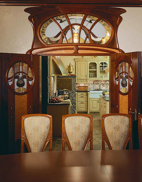 Фото № 3494 кухня  Загородный дом
