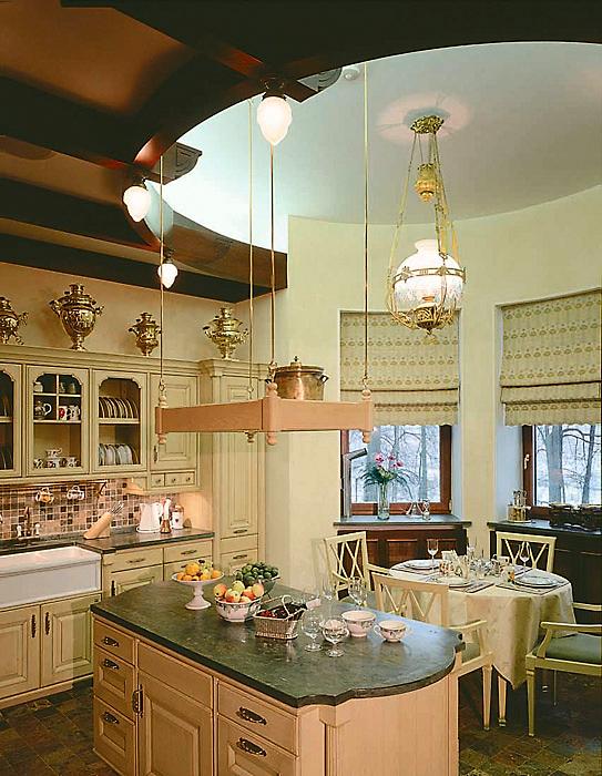 Фото № 3495 кухня  Загородный дом
