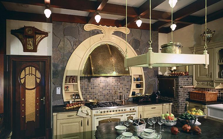 Фото № 3496 кухня  Загородный дом