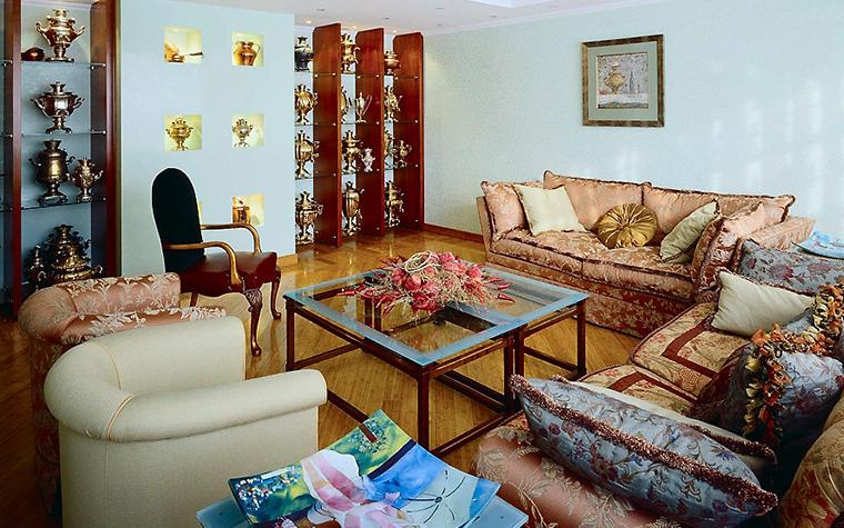 Загородный дом. гостиная из проекта , фото №3571