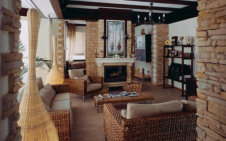 интерьер гостиной - фото № 3578
